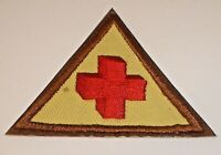Vintage Red Cross Embroidered Patch