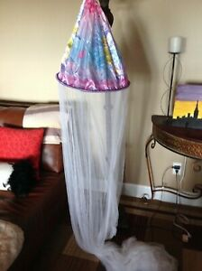 Disney Girls' Teen Tinkerbell Bed Canopy pink/purple/blue EUC