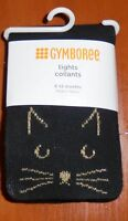 Gymboree Baby Girls Black Gray Cat Tights Size 6-12 12-24 2T-3T Months  NWT