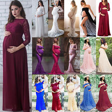 Gown  Maxi Dresses Pregnant Womens Lace Long Dress Maternity Photography Props