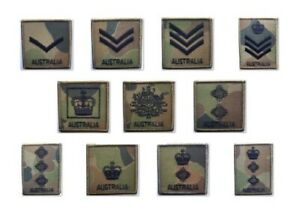 Auscam DPCU Army Australia Rank Patches with hook & loop closure.