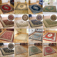 SMALL - EXTRA LARGE ELEGANT CLASSIC TRADITIONAL RUGS BLUE DARK RED GREEN BEIGE