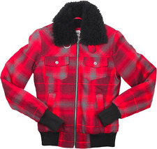 Fox Racing Donna Charlene Sherpa foderato giacca in pile NUOVO QUADRI ragazza