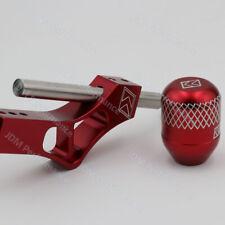 Red Aluminum K-Tuned Shift Knob Extender Adjustable Shifter Lever+Shift Knob
