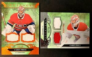 CAREY PRICE, 20-21 ARTIFACTS , STRAP-STRAP MEMORABILIA , ORANGE, SP #9/10! +xtra