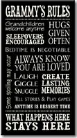 Grammy's Rules-8.5 x 16 Decorative Sign