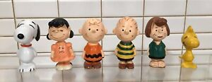 Rare Charlie Brown Snoopy and the Peanuts, 6 PVC FIG. SCHLEICH, W. Germany 1972.