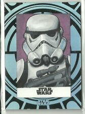 2015 Topps Star Wars High Tek Sketch Card Stormtrooper by Unknown Artist