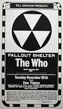 The Who Concert Poster 1973 Cow Palace Signed Randy Tuten - White