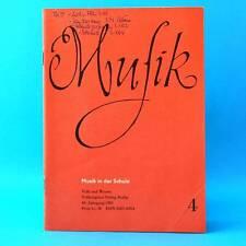 Musik in der Schule 4/1989 | Musikunterricht Lehrmaterial Lehrer DDR Schulbuch