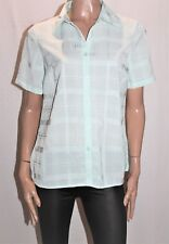 Miller's Brand Pastel Green Check Short Sleeve Shirt Top Size 10 BNWT #Ti44