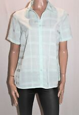 Miller's Brand Pastel Green Check Short Sleeve Shirt Top Size 10 BNWT #Ti44