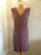 NEXT burgundy print dress size 16