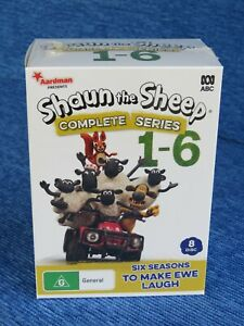 SHAUN THE SHEEP COMPLETE SERIES 1 TO 6 DVD TV NEW SEALED ABC 1 2 3 4 5 BLITZER