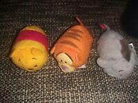 "Official Walt Disney Store - Tigger Tsum Tsum 3.5"" Plush Winnie the Pooh Eeyore"