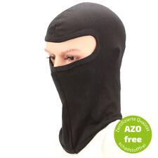 Sturmhaube schwarz mit Gesichtsfeld für Motorradhelm,  Balaclava, Skimütze