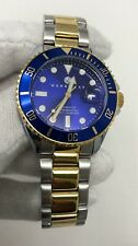 Henry Jay Aquamaster Specialty 100m Blue Dial Two Tone Men's Watch HJ2001 SD9