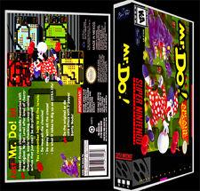 Mr. Do! Mr Do - SNES Reproduction Art Case/Box No Game. Super Nintendo