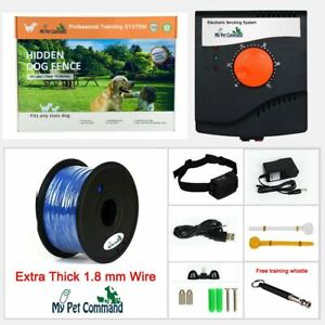 Electric Dog Fence System Hidden Waterproof Rechargeable Pet Containment Dogs