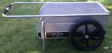 "Jack Daniels Folding Aluminum Party Cart 19"" Wheels, Folds Easy for Storage RARE"