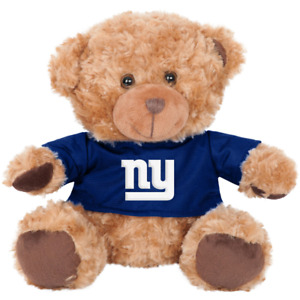 New York Giants NFL Seated T-Shirt Tan Plush Teddy Bear - New With Tags