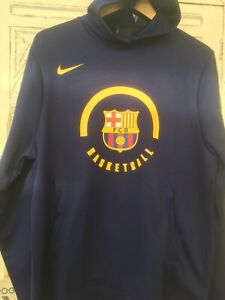 Nike FC Barcelona Dri-Fit Men's Badged Basketball Hoodie 933758 421New Size S