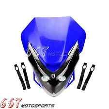 Blue Motorcycle Headlight LED Lamp Fairing For Yamaha WR250 TTR225 DT250 WR250F