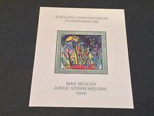 Austria 2004 Junge Sonnenblume Painting Scott #1971 Mnh Nice Souvenir Sheet