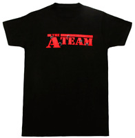 Adult Black Action Adventure TV Show The A-Team Bullet Holes T-shirt Tee