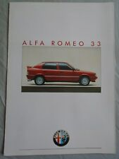 Alfa Romeo 33 GAMA FOLLETO 1986 de octubre del texto alemán ref 872 064 D
