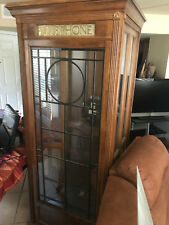 Antique Wooden Working Telephone Booth