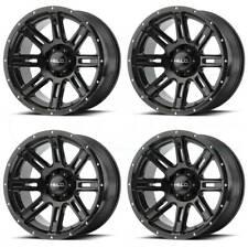 18x9 Helo HE900 6x120 0 Gloss Black Wheels Rims Set(4)