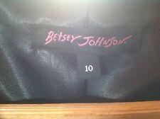 Betsey Johnson jacket  USA 10 uk 12 to14 black BNWT