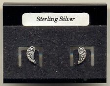 Angel Wings Sterling Silver 925 Studs Earrings Carded