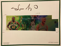 Shawn Kemp Signed LIMITED EDITION /1000 AUTOGRAPHED Mural Print Auto Sonics