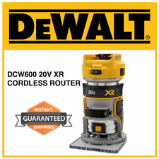 NEW • DEWALT DCW600 B 20V MAX XR Compact Cordless Brushless Router • SHIPS NOW