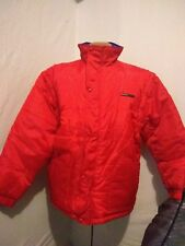 Mens Vintage Guess Jeans Red Blue Reversible Puffer Jacket Detachable Arms NWOT