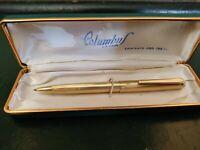penna a sfera Columbus laminato oro vintage usato