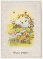 1965 Primavera Flores Abejas Mariposas País por Tarjeta Postal Vintage Pascua