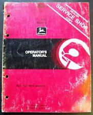 John Deere 467 Balers Operators Manual