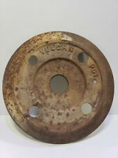 "Vintage Cast Iron Wheel 2x12""   Industrial Cart pulley gear steam punk lamp base"