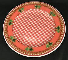 """1 Rosenthal Versace Ivy Leaves Passion Red Salad Dessert Plate 8 1/4"""""""