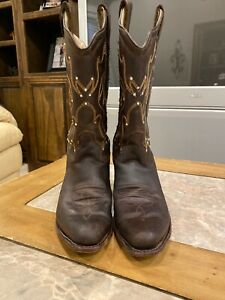 Old West Girls Leather Boots Size 12.5 (Blinged with Crystals)