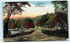 *The Flume Canobie Lake Cottages Homes Boats New Hampshire NH Old Postcard C22