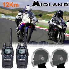 MIDLAND G7 Pro LPD Moto talkie-walkie RADIO INTERPHONE près du visage casques