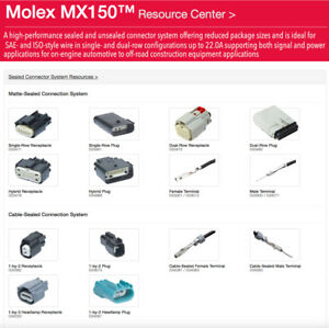 Molex Harley 2,3,4,6,8,12 16-Pin 20 Male OR Female MX150 connector + terminals