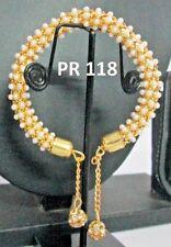 Indian Fashion Pearl Wedding Jewelery Bridal CZ Traditional Bangle Bracelet Sets