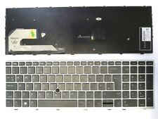 HP EliteBook 850 G5 755 G3 Silver Frame UK Keyboard Trackpoint NO Backlight NEW
