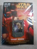 Count Dooku Lapel Pin - Star Wars Episode 3 Official 2005 Pin Collection - NOC