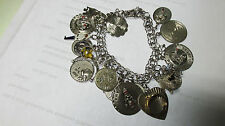 ELCO STERLING CHARM BRACELET 20 STERLING CHARMS   4414145
